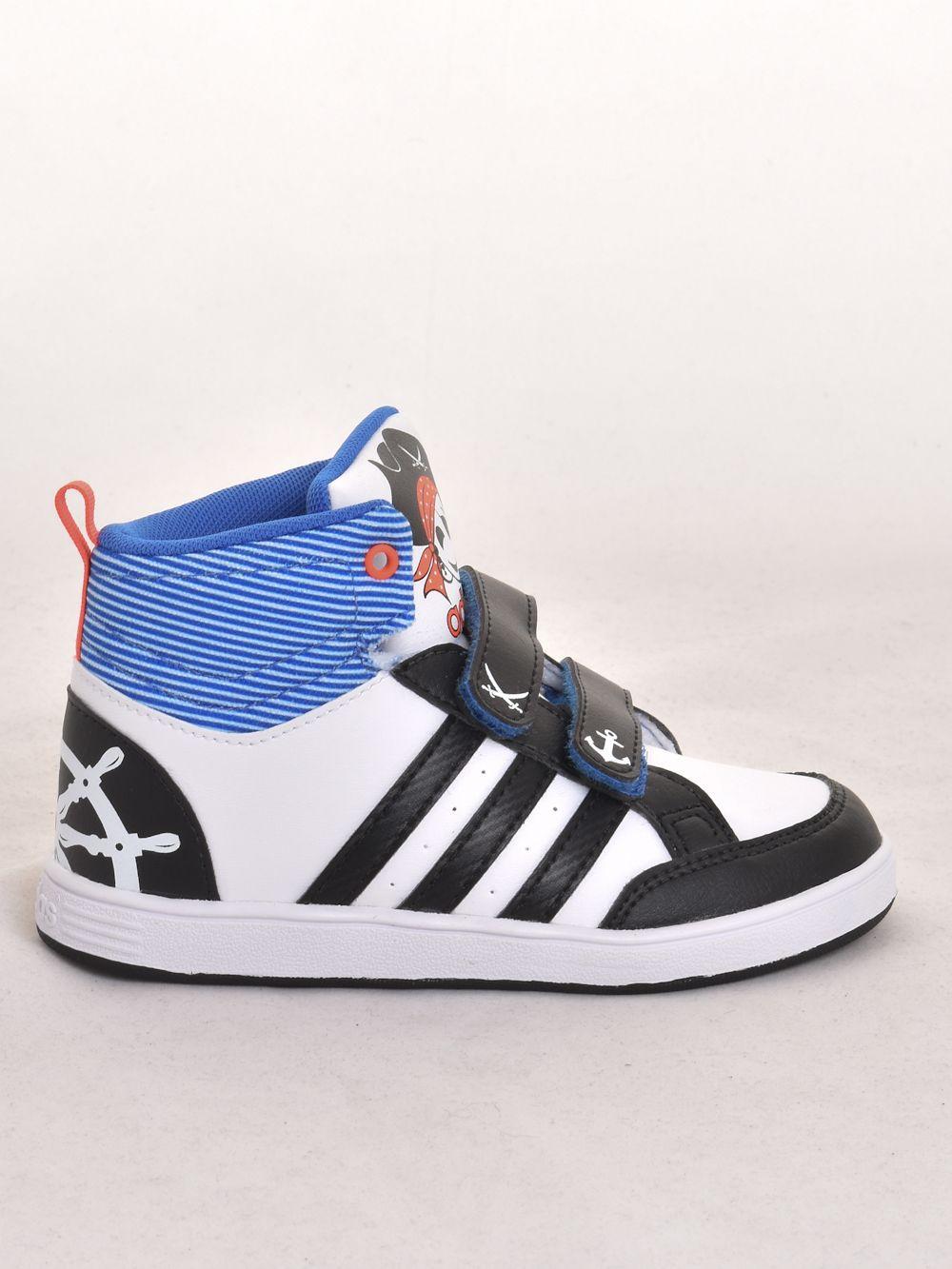 Adidas bébi fiú magasszárú cipő HOOPS CMF MID INF