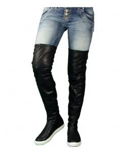 Retro Jeans Nõi hosszúszárú lapos csizma BESS