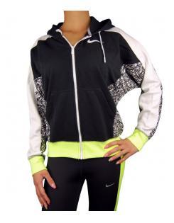 Nike női pulóver NIKE CLUB FZ HOODY-AOP