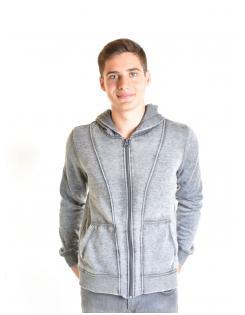 Devergo férfi zippes-kapucnis pulóver