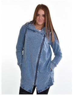 Devergo női zippes-kapucnis pulóver