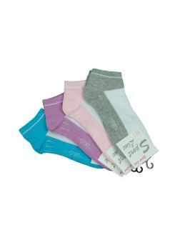 Sport line női természetes pamutszálas zokni