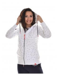 Heavy Tools női zippes-kapucnis pulóver SAOLA white