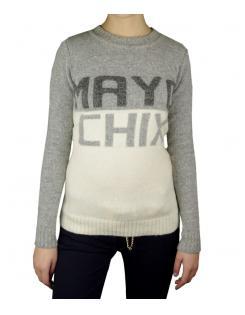 Mayo Chix kötött pulóver Boston